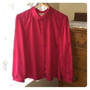 Banana Republic magenta blouse